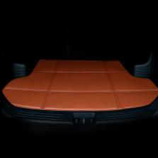 轩利 经典折叠平边系列 专车专用皮革经典折叠后备箱垫【卡宴色】