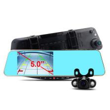 凌度HS950A后视镜行车记录仪双镜头高清1080P停车监控倒车影像一体机+16G存储卡