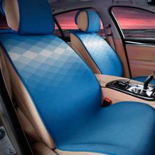 Mubo牧宝 MSJ 1607系列 舒适透气炫彩时尚四季空调垫五座通用汽车坐垫【蓝色】