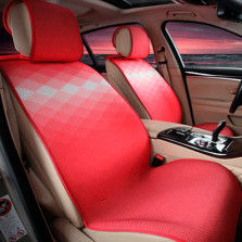 Mubo牧宝 MSJ 1607系列 舒适透气炫彩时尚四季空调垫五座通用汽车坐垫【红色】