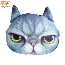 车家汇 汽车头枕靠枕3D卡通表情包抱枕头抱枕生气猫除异味竹炭包