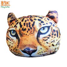 车家汇 汽车头枕靠枕抱枕竹炭包3D立体花豹图案除异味