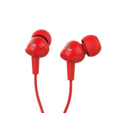 JBL C100SI苹果耳机入耳式便携通用 运动耳塞式原装正品线控耳机【红色】