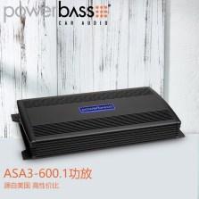 【免费安装】美国POWERBASS ASA3-600.1 车载AB类单声道功放 额定功率600瓦