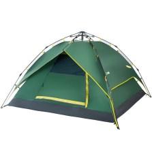 德国TAWA 户外2-4人 全自动弹簧升级版 防雨野营露营帐篷【军绿色】TWCP-160530