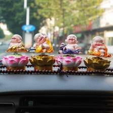 车洁邦/CheJieBang 座式弥勒佛像车载车用创意车内摆件装饰用品