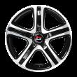 【热销款 买3送1 四只套装】丰途/华固HG2563 16寸 低压铸造轮毂 孔距5X114.3 ET42黑色车亮