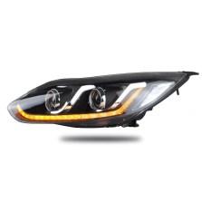 【免费安装】龙鼎12-14款福克斯氙气大灯总成 改装双光透镜LED日行灯 带雪莱特球泡+雪莱特安定器【一对】