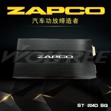 【免费安装 】美国ZAPCO ST-204DSQ 车载D类四声道功放 额定功率180瓦