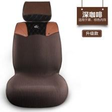 御马(yuma)四季通用 免绑系列汽车座垫 五座通用透气座垫升级款深咖色