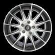 【买3送1 四只套装】丰途/FT101 16寸低压铸造轮毂 孔距5X114.3 黑色车亮