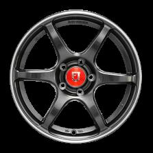 【买3送1 四只套装】丰途/FR652 15寸 旋压铸造轮毂 孔距5X100 ET35亮铁灰+铣肋+车边