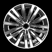 丰途严选/HG1324 17寸 迈腾原厂款轮毂 孔距5X112 ET47枪灰车亮