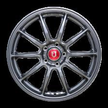 【65折 四只套装】丰途/FR153 18寸 旋压铸造轮毂 孔距5X112 ET35亮铁灰全涂