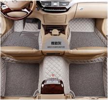 3M 专车专用皮革包围丝圈汽车脚垫【雅致灰】