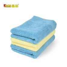 晶臣/Kinson  长短毛超纤清洁毛巾3条装40*60