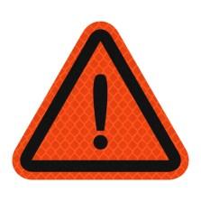 3M钻石级卡通反光贴-三角警示贴【荧光橙色】