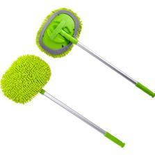 卡饰社 雪尼尔 伸缩铝杆洗车拖把【绿色】
