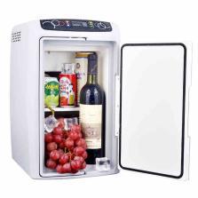 婷微 车载冰箱 CB-18车家两用小冰箱 迷你家用双制冷冰箱【18L 银灰色】