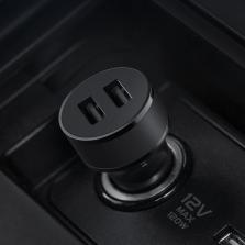 途虎定制 途逸 升级版车充 双USB车载手机充电器 点烟器车充 17W 黑色