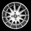 丰途/FT101 15寸低压铸造轮毂 孔距4X100 黑色车亮