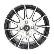 丰途/FT101 14寸低压铸造轮毂 孔距4X100 黑色车亮
