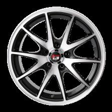 热销款 丰途/华固HG2562 14寸 低压铸造轮毂 孔距5X100 ET35黑色车亮