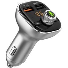 咚咚 M2S智能语音车载蓝牙MP3播放器免提电话FM发射器接收器点烟器式USB车载充电器 QC3.0银色