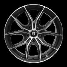 【买3送1 四只套装】丰途/FT512 18寸 低压铸造轮毂 孔距5X108 ET40枪灰车亮