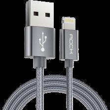 ROCK 苹果数据线 尼龙编织线充电数据传输二合一 锖色