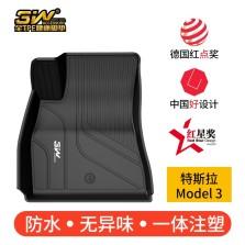 3W全TPE脚垫19款特斯拉Model3专车专用脚垫防水无异味【Model3全TPE脚垫】