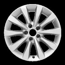【买3送1 四只套装】丰途严选/HG0177 17寸 奥迪A6L原厂款轮毂 孔距5X112 ET38银色涂装