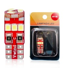 暴享 LED车灯 汽车示宽灯T10 汽车小灯泡 阅读灯信号灯改装解码专用灯 高亮 白光25mm(单只装)