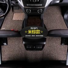 乔氏 思哥达系列 耐磨耐脏地毯式丝圈专车专用五座汽车脚垫 14mm厚度【米棕】