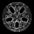 【热销款 限时7折 四只套装】丰途/FT103 18寸 低压铸造轮毂 孔距5X112 ET42亚黑车亮+灰色透明漆