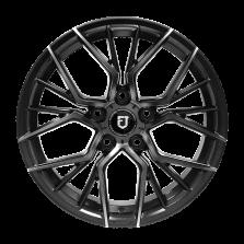 【 热销款 85折 四只套装】丰途/FT103 17寸 低压铸造轮毂 孔距5X114.3 ET40亚黑车亮+灰色透明漆