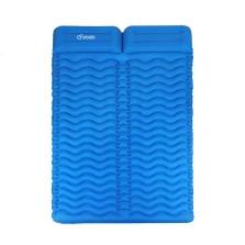 悠度 轻便携双人带枕蛋巢充气垫 户外帐篷睡垫露营地垫防潮垫天蓝色