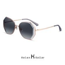 海伦凯勒太阳镜女款墨镜时尚潮流遮阳镜驾驶偏光太阳镜 H8826水墨渐变色N13(偏光)