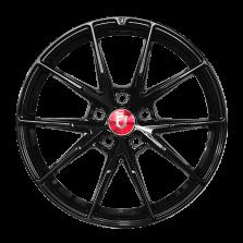 【买3送1 四只套装】丰途/FR553 18寸 旋压铸造轮毂 孔距5X108 ET40黑色涂装