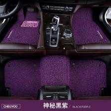 车丽友 专车专用五座丝圈脚垫 【神秘黑紫】
