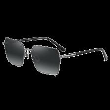 海伦凯勒新款偏光潮太阳镜男简约个性方框墨镜近视开车镜 H8755N22流光银镀膜+光水金