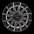 【热销款 券后价377元/只 四只套装】丰途/华固HG2166 15寸 低压铸造轮毂 孔距4X100 ET35黑色车亮