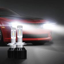 途虎定制 T1 Plus  汽车LED大灯 无损改装替换 H7 6000K 一对装 白光【高亮升级款】
