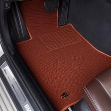 洛奇 专车专用地毯式汽车脚垫【棕色五座】