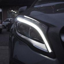 【免费安装】龙鼎适用于奔驰gla200 220 260高配大灯总成日行灯一抹蓝改装透镜
