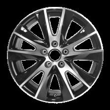 【买3送1 四只套装】丰途严选/HG0220 17寸 大众途观原厂款轮毂 孔距5X112 ET43黑色车亮