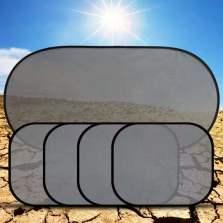 梦雅德沙网布遮阳侧窗加厚遮阳防晒隔热太阳挡(4张侧挡+后档)