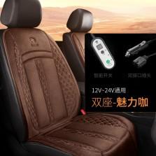 卡客汽车加热坐垫单片冬季车载电加热座椅车垫保暖【魅力咖-双座】