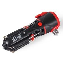 沿途 多功能汽车安全锤 含手电筒/螺丝刀 车载救生逃生锤子 车用破窗器 F01