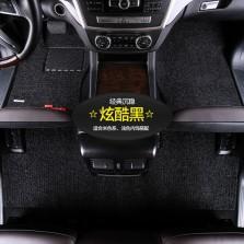 乔氏 思哥达系列 耐磨耐脏地毯式丝圈专车专用五座汽车脚垫 14mm厚度【炫酷黑】